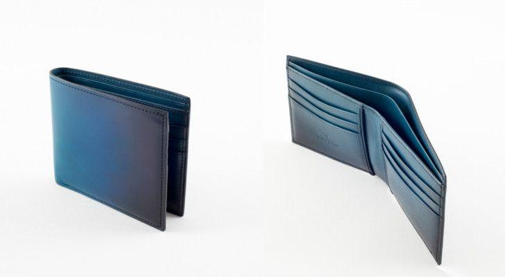 小銭入れがないタイプの二つ折り財布
