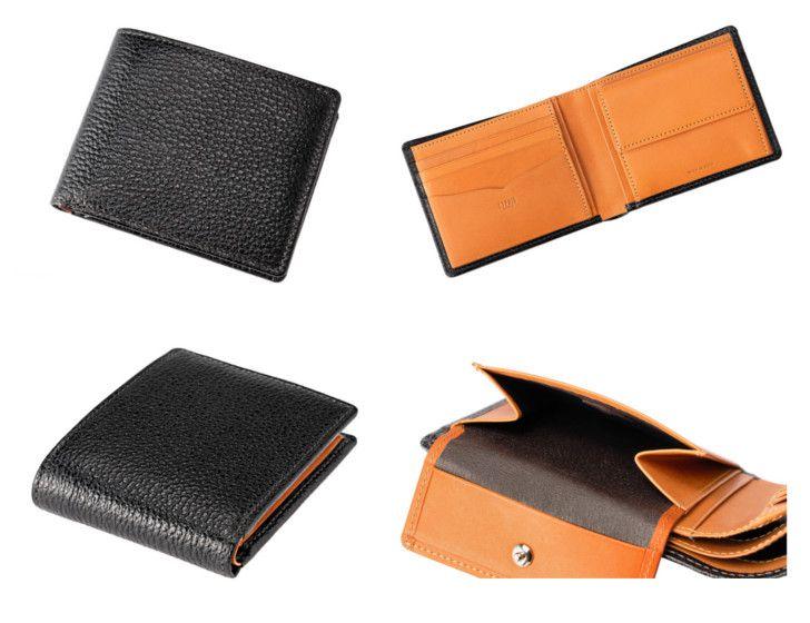 カシューレザー二つ折り財布