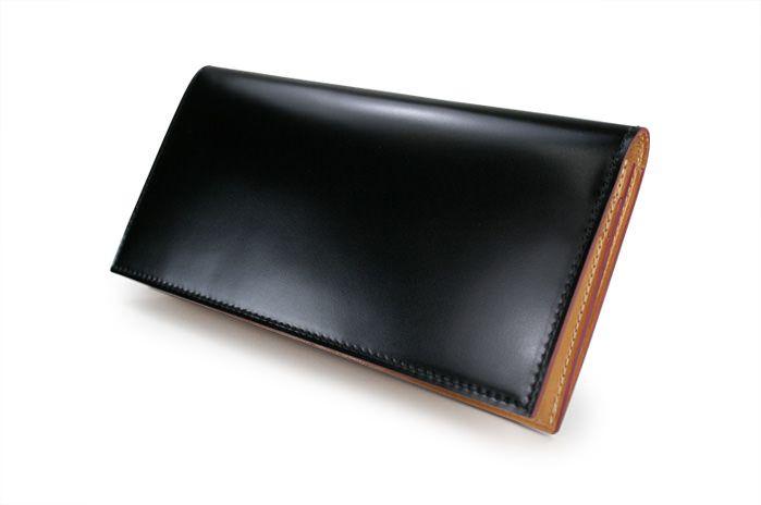 コードバンファスナー小銭入れ付き長財布