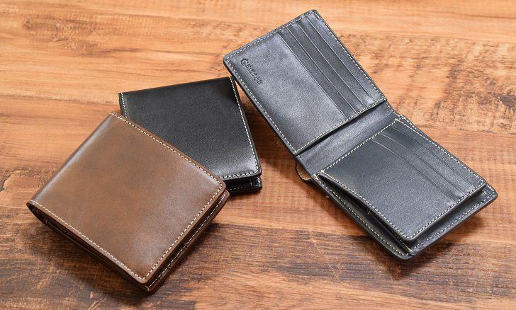 カウレザー二つ折り財布